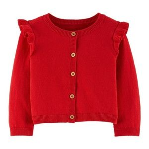 NWT Carter's Baby Girls Flutter Sleeve Cardigan
